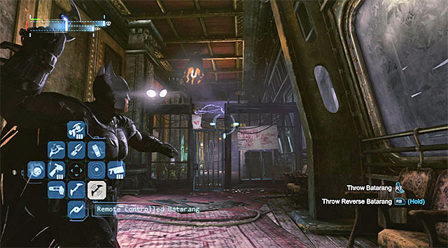 Backtrack to the south now, and stop at the gate shown in the screenshot - The best hidden datapacks - Extortion File 7 (Amusement Mile) - Enigma Datapacks - Batman: Arkham Origins - Game Guide and Walkthrough