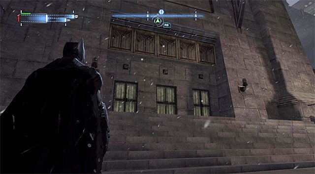 The box with the collectible is attached to the wall next to a small external balcony - The best hidden datapacks - Extortion File 11 (Gotham Pioneers Bridge) - Enigma Datapacks - Batman: Arkham Origins - Game Guide and Walkthrough