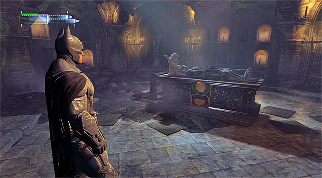 The crypt with the eighth plaque - Cyrus Pinkneys Plaques - Batman: Arkham Origins - Game Guide and Walkthrough