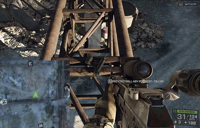 The last weapon, CBJ-MS, is on the metal ramp in the factory's premises that you walked into through the tunnel - 1 - Baku (weapons) - Hidden dog tags and weapons - Battlefield 4 - Game Guide and Walkthrough