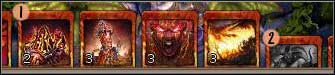 1 - a card you can play (all the requirements are fulfilled) - Interface - Battle interface - Interface - BattleForge - Game Guide and Walkthrough