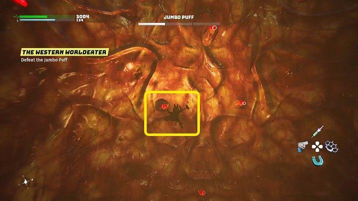 На третьем этапе Jumbo Puff проглотит вашего героя, и вы попадете прямо в живот монстра - Biomutant: The Western Worldeater - прохождение - Основные квесты - Руководство по биомутантам