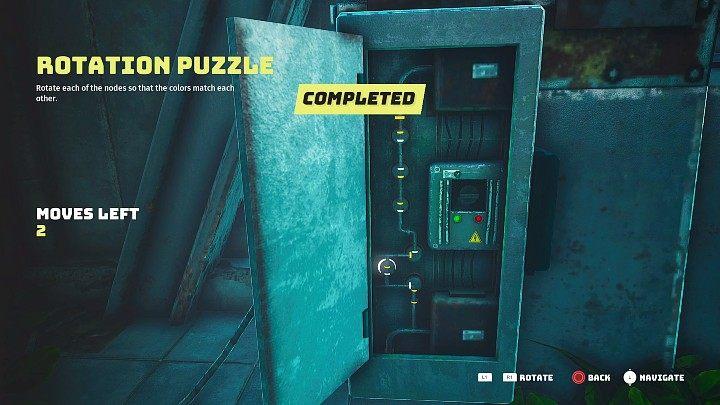 Чтобы открыть дверь, вы должны подать питание на дверь, собирая простые вращающиеся головоломки - Biomutant: Whiz - пошаговое руководство - Основные квесты - Руководство по биомутантам.