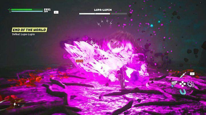 Когда вы лишите босса первой части его шкалы здоровья, Люпа-Люпин рассердится и атакует с еще большей яростью, используя свою темную силу - Биомутант: Конец света - прохождение - Основные квесты - Руководство по биомутантам