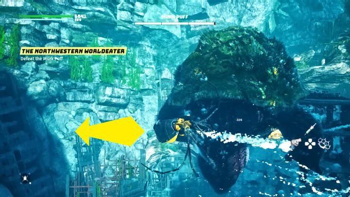 Мурк Пафф начнет бой с атакой, поэтому вы должны быть готовы немедленно уклониться боком - Биомутант: Мрачный Пафф - как победить?  - Боссы - Руководство по биомутантам