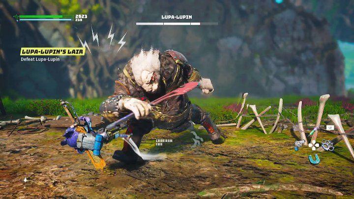 Несмотря на свои огромные размеры, Люпа-Люпин - очень ловкий противник, который может атаковать вашего героя - Биомутант: Люпа-Люпин, 1. бой - как победить?  - Боссы - Руководство по биомутантам