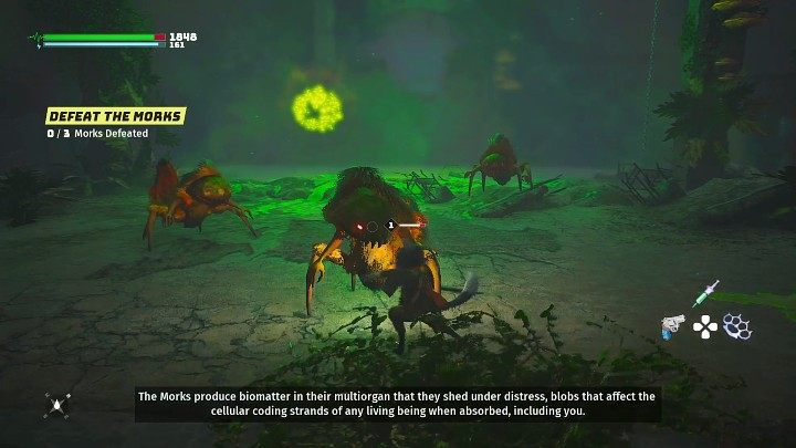 Ваш следующий бой будет против некоторых новых противников, которые не должны доставить вам особых проблем - Биомутант: Бункер 101 - Руководство по прохождению - Настоящее время - Руководство по биомутантам