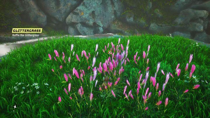 Идите в место, указанное на карте, встаньте рядом с Glittergrass и выполните рукопашную атаку - Biomutant: Another World - прохождение - Основные квесты - Biomutant Guide