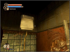 Another way of getting the code is to go to the toilets (the entrance is opposite to the door with the key lock, you'll have to pay 5$) - Walkthrough - Inner Persephone - Walkthrough - Bioshock 2 - Game Guide and Walkthrough