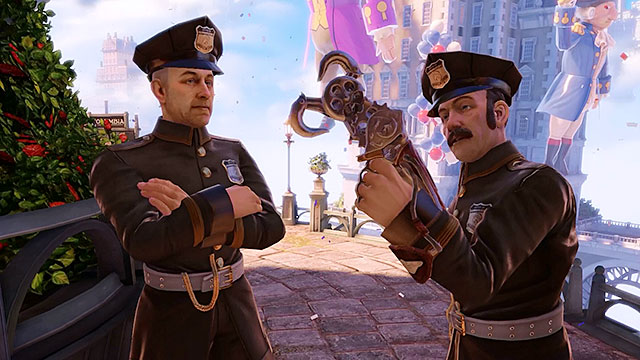 Policemen and Vox members are the most common and the weakest groups of enemies - Common enemies - Enemies - BioShock: Infinite - Game Guide and Walkthrough