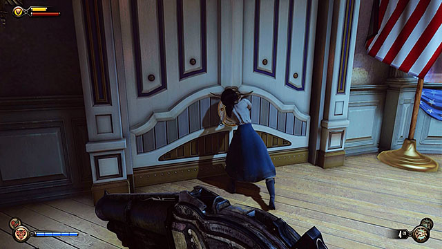 Once youve entered the Soldiers Field Welcome Center turn left and youll encounter a locked door leading to the security office - Safes and locked doors (chapters 8-28) - Lockpicks - BioShock: Infinite - Game Guide and Walkthrough