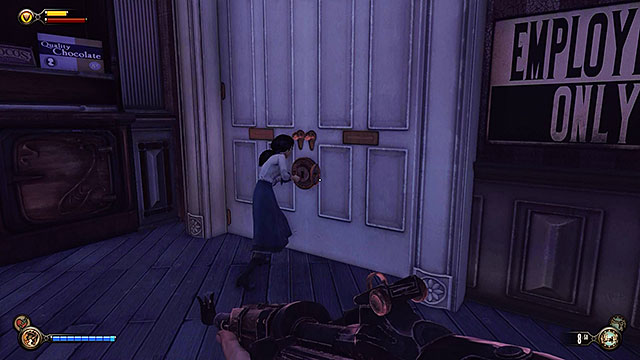 Theres a weapons upgrade station at the end of the ticket hall, near a kinetoscope - Safes and locked doors (chapters 8-28) - Lockpicks - BioShock: Infinite - Game Guide and Walkthrough