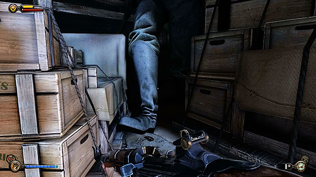 This room contains several useful items, including a new lockpick found under the shoe of a statue located in one of the corners - Find Shock Jockey at the Hall of Heroes - Chapter 9 - Hall of Heroes - BioShock: Infinite - Game Guide and Walkthrough