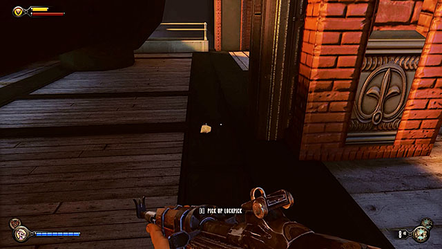 Once youve cleared and fully searched the docks proceed towards a tunnel located near the building with a safe - Find Elizabeth - Chapter 13 - Finkton Docks - BioShock: Infinite - Game Guide and Walkthrough