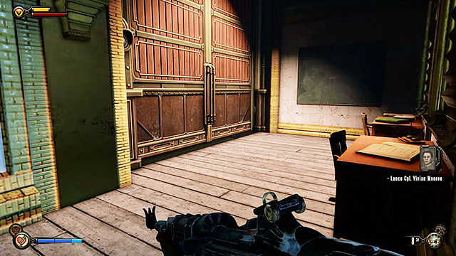 Once youre ready to help the girl leave the building via a door located on the right side of the corridor - Pursue Elizabeth - Chapter 14 - Beggars Wharf - BioShock: Infinite - Game Guide and Walkthrough