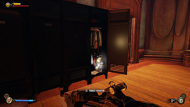Press a button to call the elevator - Find a way into Finkton - Chapter 16 - Worker Induction Center / Finkton Proper - BioShock: Infinite - Game Guide and Walkthrough