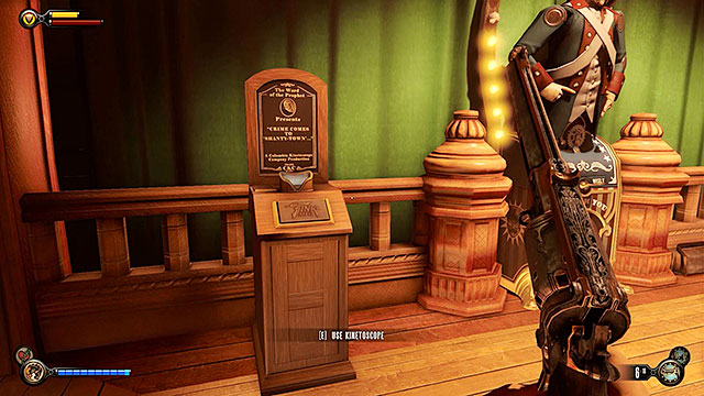 Locate a vestibule after entering the club and use the stairs to get to the upper floor - Go to The Good Time Club and rescue Chen Lin - Chapter 18 - The Good Time Club - BioShock: Infinite - Game Guide and Walkthrough