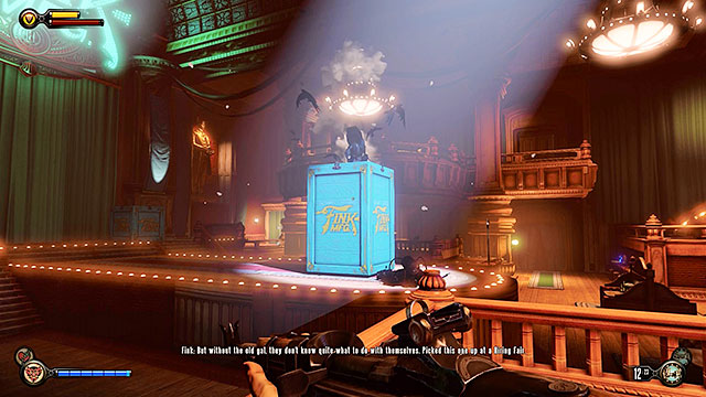 Once youve eliminated all enemies from the first wave a new Crow will appear on the stage - Go to The Good Time Club and rescue Chen Lin - Chapter 18 - The Good Time Club - BioShock: Infinite - Game Guide and Walkthrough
