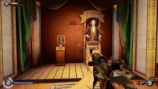 Go past the toilets and at the end of the corridor youll find the Veni - Go to The Good Time Club and rescue Chen Lin - Chapter 18 - The Good Time Club - BioShock: Infinite - Game Guide and Walkthrough