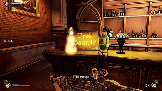 Theres an Infusion #13 on the bars counter, next to the Free Sample - Go to The Good Time Club and rescue Chen Lin - Chapter 18 - The Good Time Club - BioShock: Infinite - Game Guide and Walkthrough