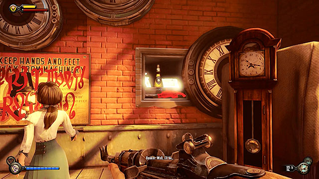You will now have a chance to finish an optional mission involving the Vox code in the watchmakers store - Return to the gunsmiths workshop - Chapter 19 - Return to Plaza of Zeal - BioShock: Infinite - Game Guide and Walkthrough