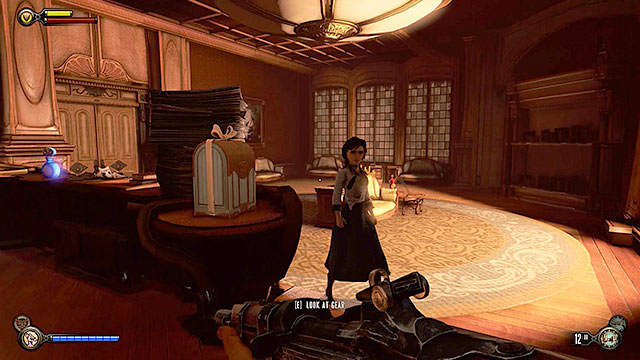 The Good Time Club - inside a study with a fireplace, opposite the stage on the first floor - Chapters 17-18 - Gear - BioShock: Infinite - Game Guide and Walkthrough