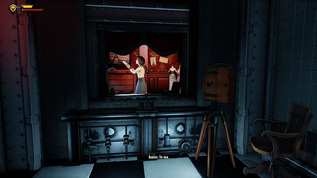 Pull a lever after entering Specimen Observation Room #2 in order to see Elizabeth for the very first time - Find the girl - Chapter 6 - Monument Tower - BioShock: Infinite - Game Guide and Walkthrough