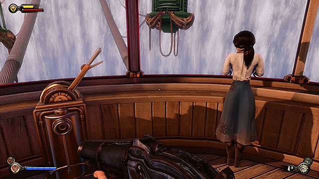 You may finally focus on finding Elizabeth and shell be waiting for you in the gondola - Pursue Elizabeth - Chapter 7 - Battleship Bay - BioShock: Infinite - Game Guide and Walkthrough