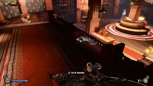 You may now proceed to the Founders Book store located to the right - Take Elizabeth to the First Lady airship - Chapter 8 - Soldiers Field - BioShock: Infinite - Game Guide and Walkthrough