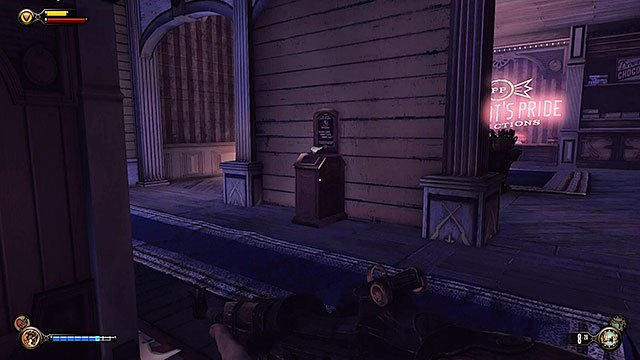 Go back to the ground floor - Find Shock Jockey at the Hall of Heroes - Chapter 8 - Soldiers Field - BioShock: Infinite - Game Guide and Walkthrough