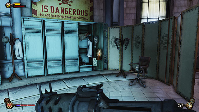 Monument Island - locker in the first room of the Monument Island - Chapters 6-7 - Voxophones - BioShock: Infinite - Game Guide and Walkthrough