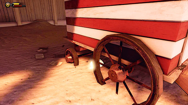 Battleship Bay - under the trailer in the first part of the beach (where Booker wakes up) - Chapters 6-7 - Voxophones - BioShock: Infinite - Game Guide and Walkthrough