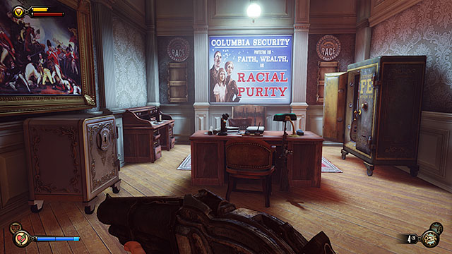 Soldiers Field Greeting Pavilion - on a desk behind the safe in the security office (you must break into this room) - Chapter 8 - Lockpicks - BioShock: Infinite - Game Guide and Walkthrough