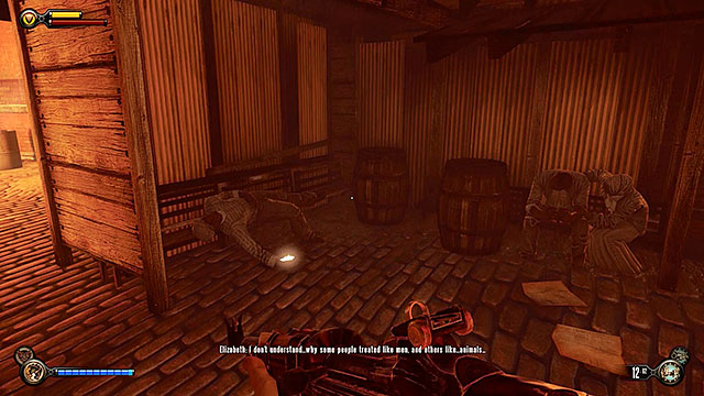 Proceed towards the opposite end of the tunnel (to the singing girl) - Find Shantytowns police impound - Chapter 21 - Shantytown - BioShock: Infinite - Game Guide and Walkthrough