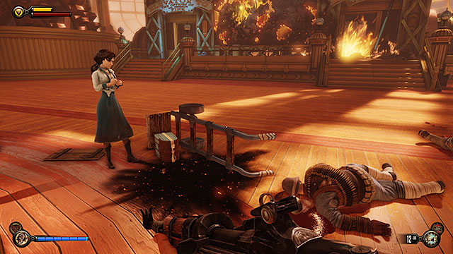 Enter the factory and explore two of the closest areas - Go to the factory and take back the First Lady airship - Chapter 27 - The Factory - BioShock: Infinite - Game Guide and Walkthrough