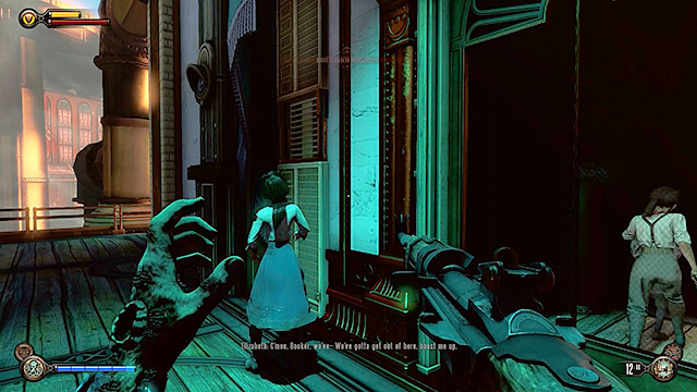 Go to the platform located under Finks office - Go to the factory and take back the First Lady airship - Chapter 27 - The Factory - BioShock: Infinite - Game Guide and Walkthrough