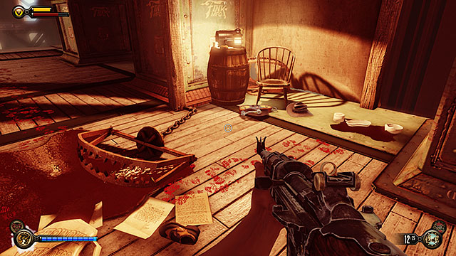 The Bull Yard - in the attic of a building located on the right side of the yard - Chapters 21-22 - Voxophones - BioShock: Infinite - Game Guide and Walkthrough