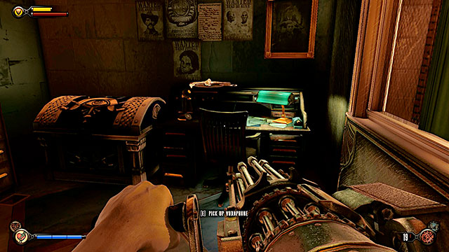 The Bull House - on a desk in an office on the first floor - Chapters 21-22 - Voxophones - BioShock: Infinite - Game Guide and Walkthrough