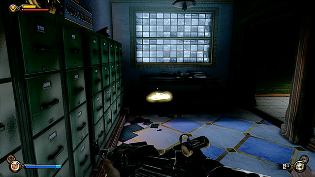 The Bull House - in the interrogation room on the ground floor - Chapters 21-22 - Voxophones - BioShock: Infinite - Game Guide and Walkthrough