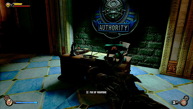 The Impound - on a desk of the impounds guard - Chapters 21-22 - Voxophones - BioShock: Infinite - Game Guide and Walkthrough