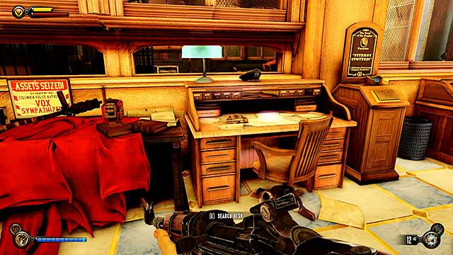 The Bull House - on a desk inside the police precincts reception - Chapters 21-26 - Vantage points - BioShock: Infinite - Game Guide and Walkthrough
