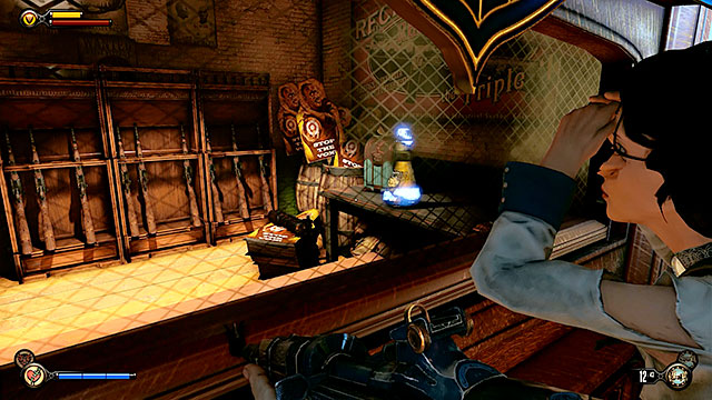 The Bull House - inside an armory on the first floor - Chapters 21-26 - Infusions - BioShock: Infinite - Game Guide and Walkthrough