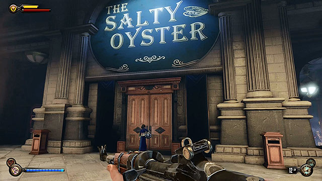 Proceed towards The Salty Oyster bar - Go to Comstock house - Chapter 29 - Port Prosperity - BioShock: Infinite - Game Guide and Walkthrough
