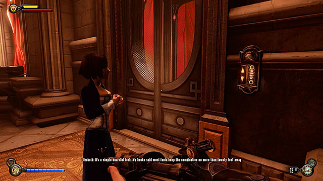 Once youve explored the surrounding area return to the rotary doors located at the end of the corridor and get to the other side - Go to Comstock house - Chapter 29 - Port Prosperity - BioShock: Infinite - Game Guide and Walkthrough