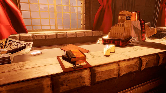 Pick up the books that cover the code (they can be found on the first stand opposite the rotary doors) - Go to Comstock house - Chapter 29 - Port Prosperity - BioShock: Infinite - Game Guide and Walkthrough