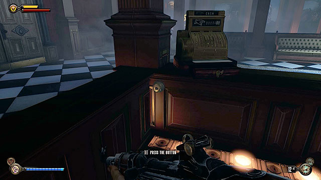 Return to The Salty Oyster bar located in one of the previous halls of the station - Side mission: Investigate the bar - Chapter 29 - Port Prosperity - BioShock: Infinite - Game Guide and Walkthrough