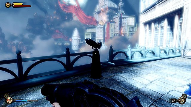 Make sure to check your surroundings on your way to the crypt and you will find Vantage point #33 - Telescope - Find the crypt of Lady Comstock - Chapter 30 - Downtown Emporia - BioShock: Infinite - Game Guide and Walkthrough