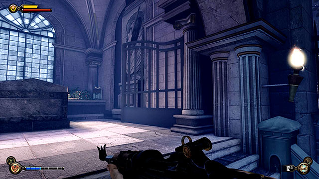 Approach Lady Comstocks crypt and find a smaller unnamed tomb to the right - Find the crypt of Lady Comstock - Chapter 30 - Downtown Emporia - BioShock: Infinite - Game Guide and Walkthrough