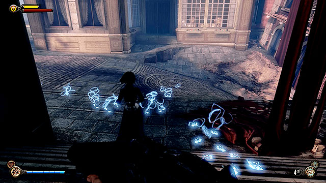Your new objective is to follow Lady Comstocks spectral trails that will appear on the ground - Find the three tears - Chapter 31 - Memorial Gardens - BioShock: Infinite - Game Guide and Walkthrough