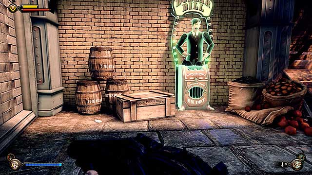 Proceed to the Market district located just around the corner - Find the three tears - Chapter 31 - Memorial Gardens - BioShock: Infinite - Game Guide and Walkthrough